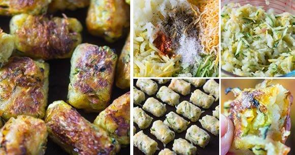 Croquettes savoureuses de courgettes, pommes de terre et fromage : la recette